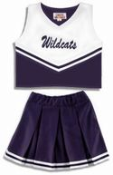 2 Piece Shell and Skirt Cheer Uniform Package