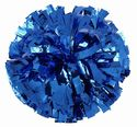 Youth Metallic Solid Show Poms Pair