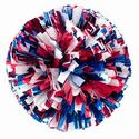 Youth 3 Color Metallic Poms Pair