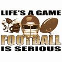 Life Is A Game Football Tee Shirt